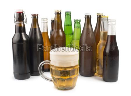 bottles, of, beer, and, beer, mug. - 9530128