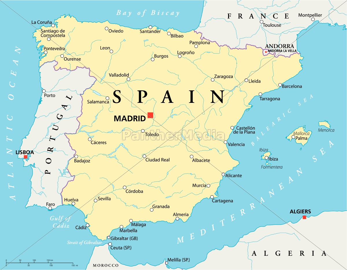Spain Map Royalty Free Photo 9532540 Panthermedia Stock Agency