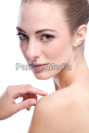 portrait isolated beautiful young woman with