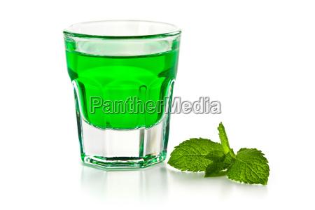 green mint liquor