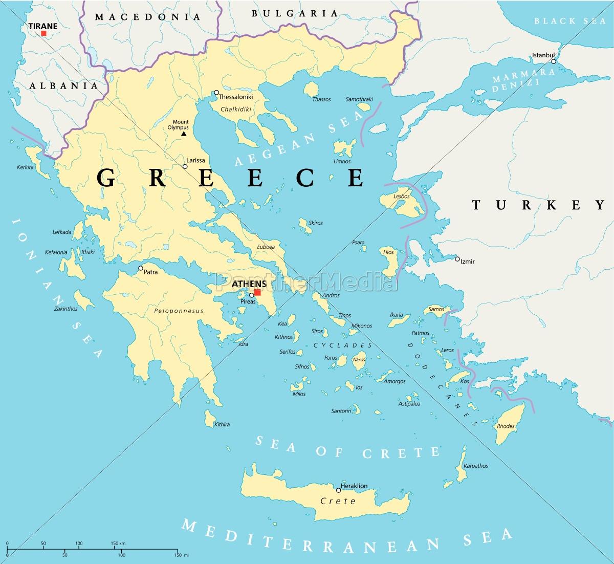 Royalty free vector 9564644 - Greece Political Map