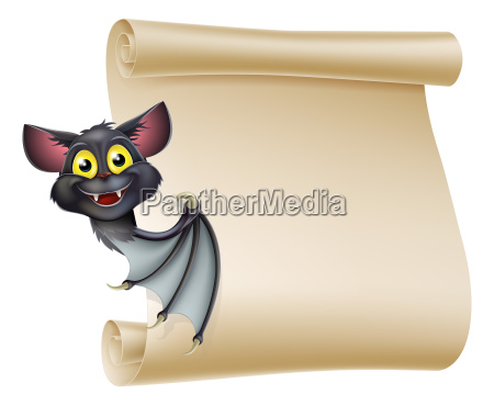 halloween bat scroll