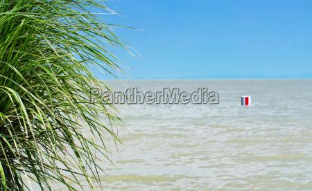 mediterranean scene at lake balaton hungary