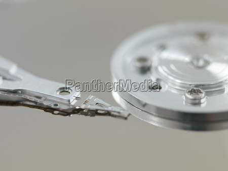 component parts of opened hard disk