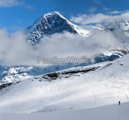 eiger ski resort of grindelwald in
