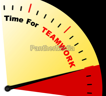 time for teamwork message represents combined