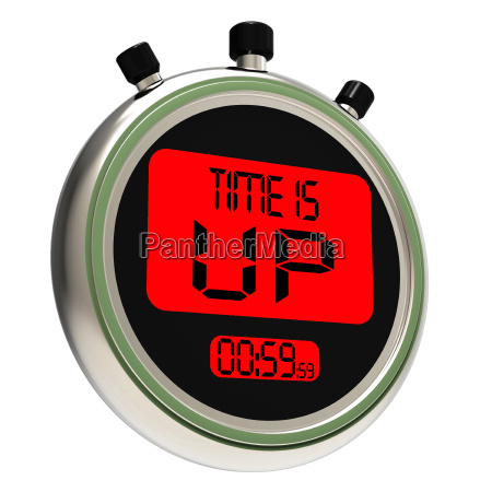 time is up message meaning deadline