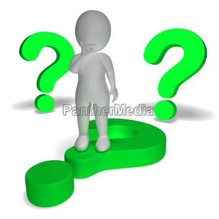 question marks around man showing confusion