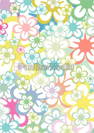 flower background vector clipart