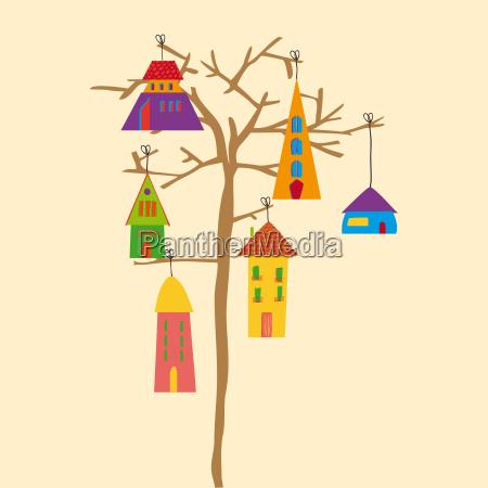 tree little town