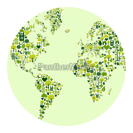 green world made of icons