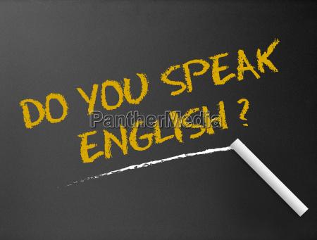 chalkboard do you speak english