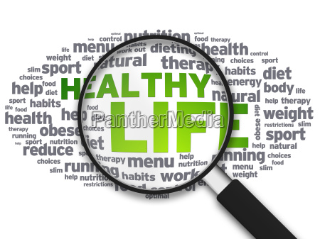 magnifying glass healthy life