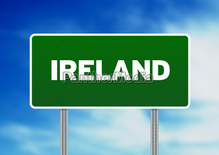 ireland highway sign