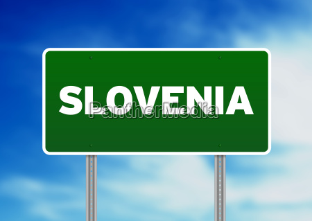 slovenia highway sign