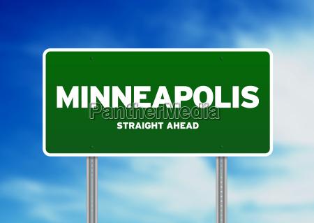 minneapolis highway sign