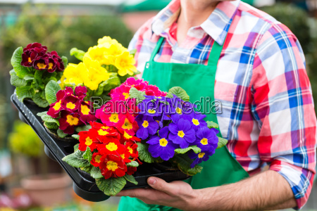 flowering gardener in his big