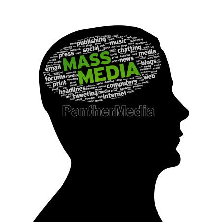 silhouette head mass media