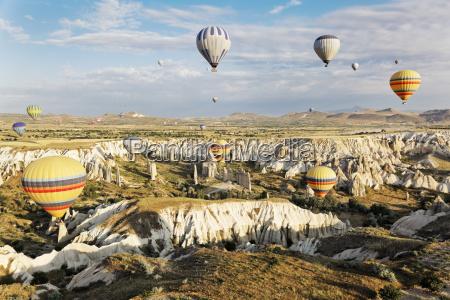 hot air balloons ghosting through chimneys