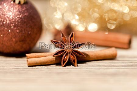 anise and cinnamon christmas tree ball