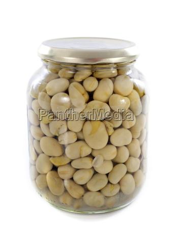 bottled preserves of bean