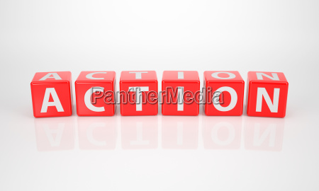 action out of red letter dices