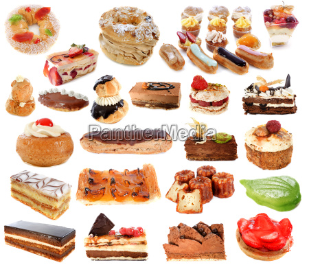 group of cakes