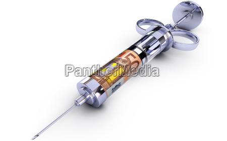 money syringe
