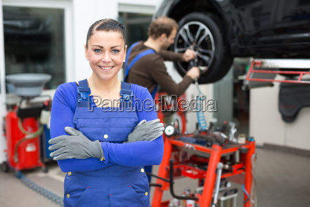 car mechanic in an auto repair