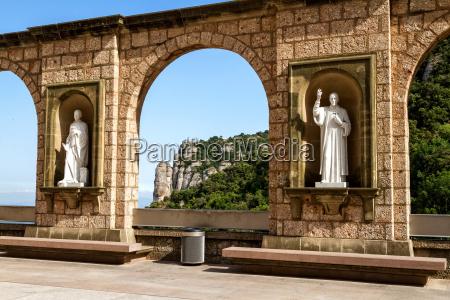 sculptures in the cloister montserrat monastery