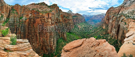 canyon overlook panorama in zion np