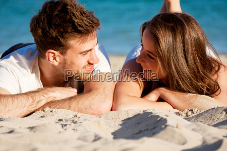 in love happy young couple at