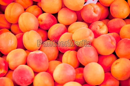 fresh sweet pepper apricots on the