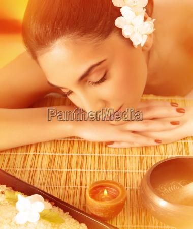 woman sleeping on massage table