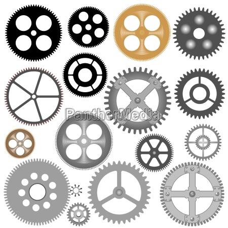 vector gears cogwheels
