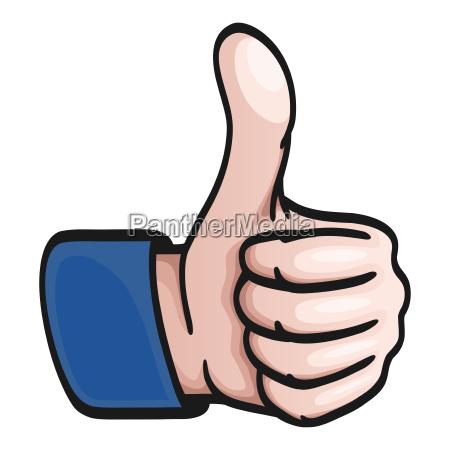 comic hand thumbs up