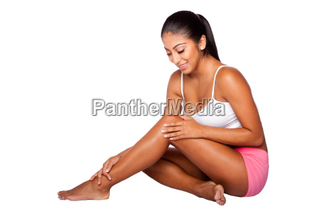 happy and healthy bodycare woman