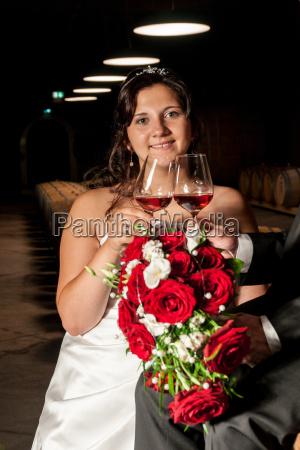 newlyweds at the tasting