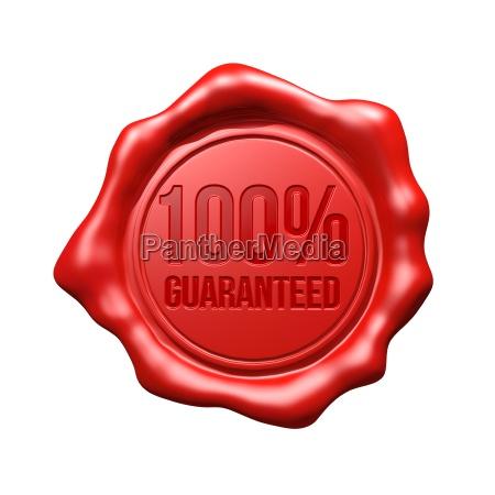 red wax seal 100 guaranteed