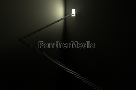stairway light in the dark