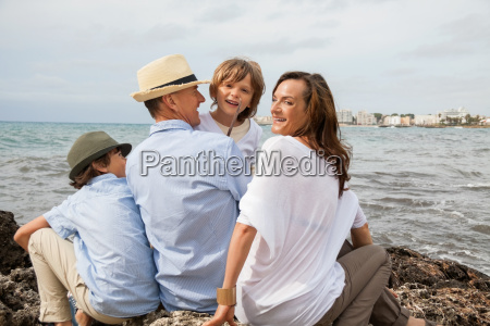 happy family with children on holiday