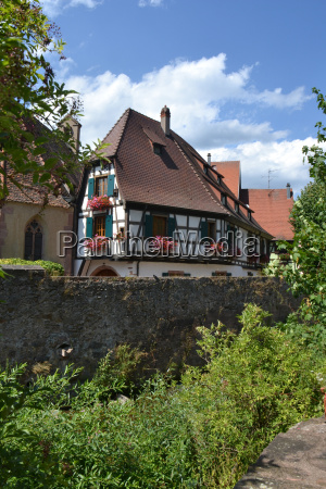 old town stream wall alsace