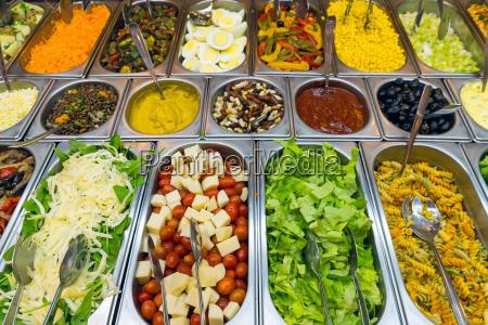 rich salad buffet