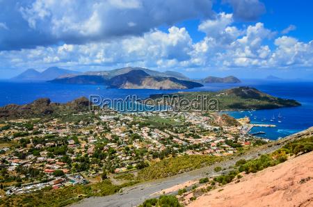 landscape view of lipari islands in