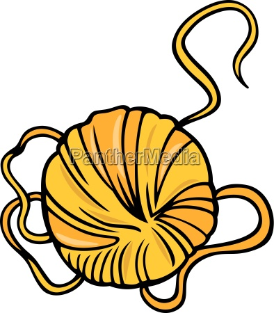 yarn clip art cartoon illustration