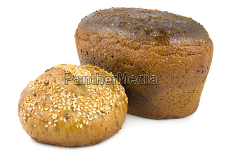 sweet bread and brown bread