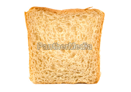 white bread isolated