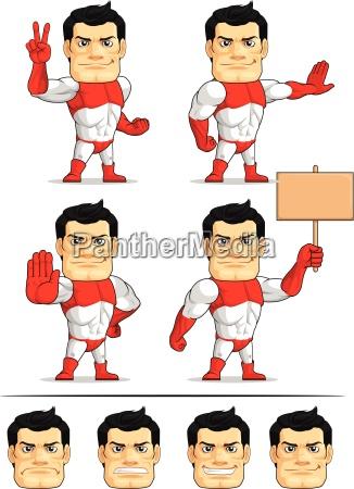 superhero customizable mascot 7