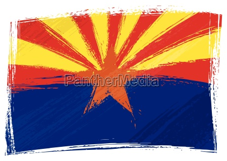 grunge arizona flag