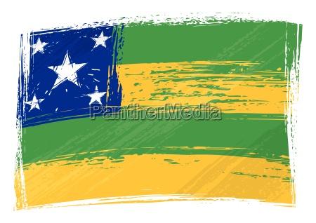 grunge sergipe flag